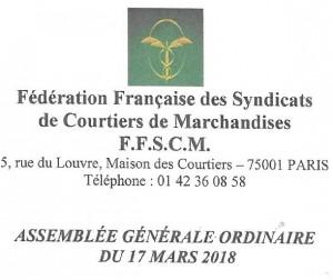 AG FFSCM PARIS MARS 2018