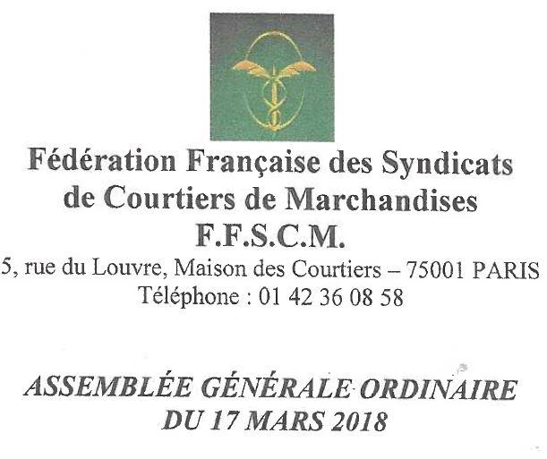 AG FFSCM Paris 03/18